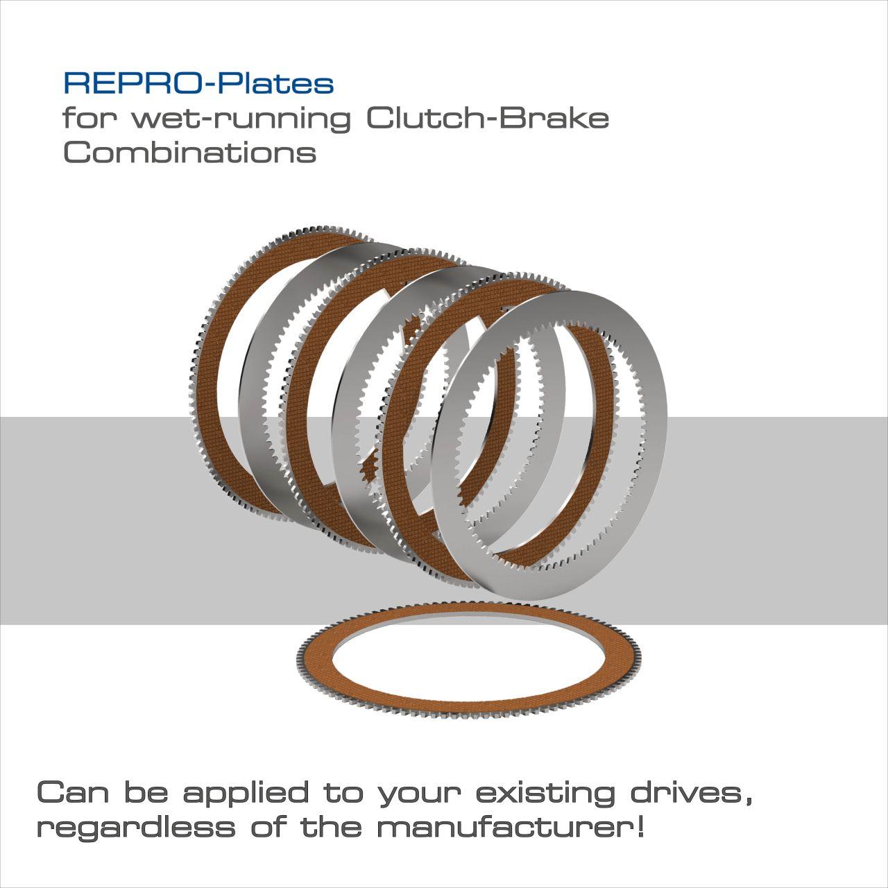 REPRO Sürtünme Diskleri -Tüm üreticilerin hidrolik kavrama / fren kombinasyonları için